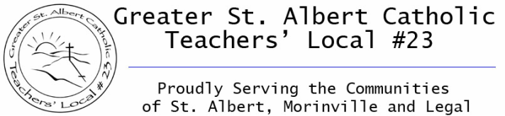 Greater St. Albert Catholic Teachers' Local # 23